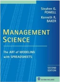 Click Here To Buy Science: The Art of Modeling with Spreadsheets by Stephen Powell & Kenneth Baker