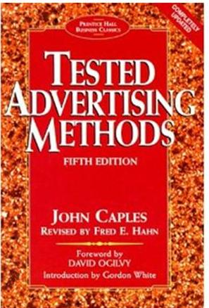 Click Here To Buy Tested Advertising Methods by John Caples and Fred E. Hahn