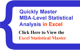 Click Here to View the Excel Statistical Master